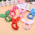 1 PcsHot Sale Fashion Girls Hair Band Mix Styles Polka Dot Bow Rabbit Ears Elastic Hair Rope Ponytail Holder Free Shipping