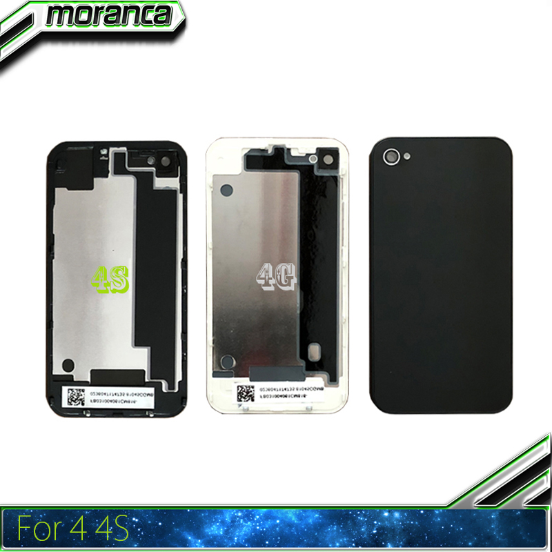 Battery-Cover Back-Housing Middle-Frame-Chassis iPhone Repair-Parts 4s Apple for 4g