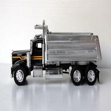 1/32 Реплика классический черный Kenworth сплав самосвал Модель Коллекция украшения сплав литье под давлением старый самосвал игрушка грузовик