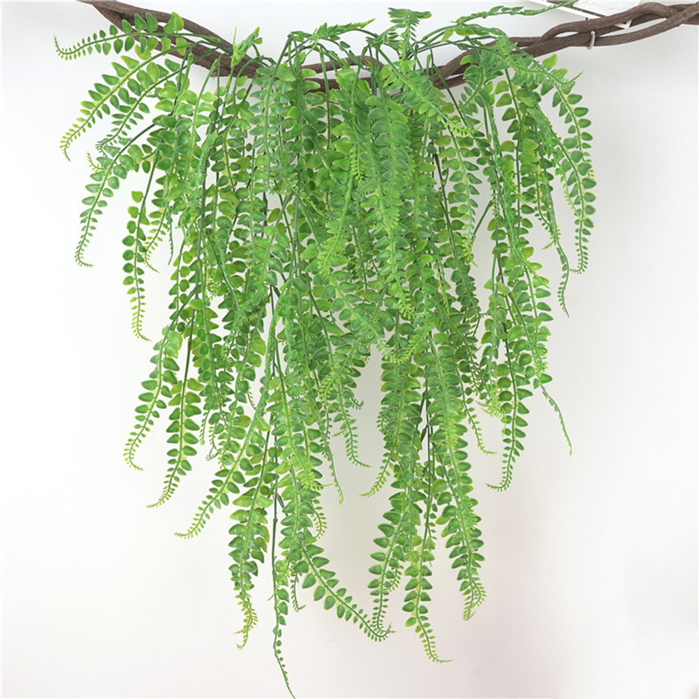 5 Forks Artificial Persian Fern Grass Bouquet DIY Wall Hanging Jungle Party Fake Plant Garden Shop Decorative Flowers