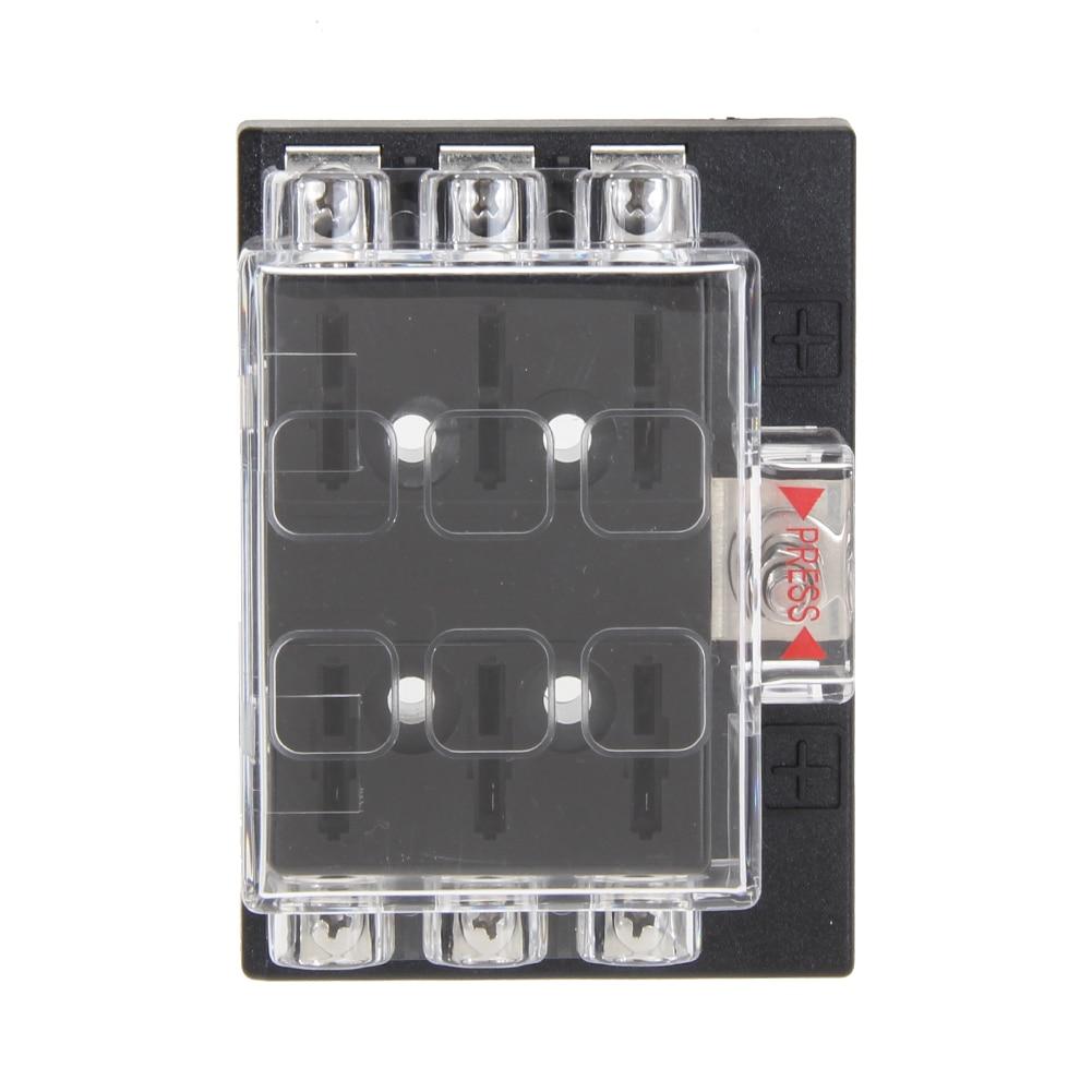 automotive fuse block terminals promotion shop for promotional 1pcs dc32v 6 way circuit car boat auto automotive blade fuse box block holder