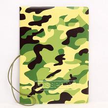 OKOKC Army zielony kamuflaż 3D paszport okładka skórzane Travel Ticket etui pakiety paszport posiadacz Akcesoria podróżne tanie tanio Q0072 10 cm Patchwork 3 cm W OKOKC 14cm Pokrowce na paszport