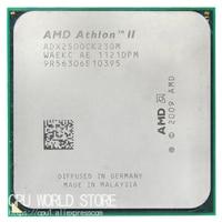 Amd athlon ii x2 250 cpu 프로세서 3.0 ghz/2 m/2000 ghz 소켓 am3 am2 + 938 핀 작동