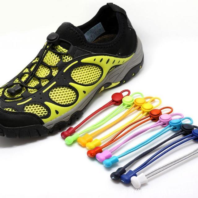 1 Pair Striped Penguncian Elastis Tali Sepatu Malas Mode Harus Lock Tali  Permen Warna Sederhana Aman 4afd0ef3a9
