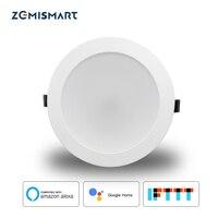 Zemismart 6 pouces WiFi RGBW Led Downlight plafonnier 10 w commande vocale par Alexa Google domotique IFTTT