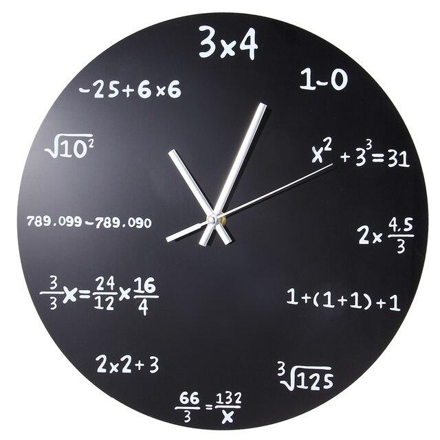aliexpress : große kreative wanduhr mathematik tafel pop quiz, Wohnzimmer
