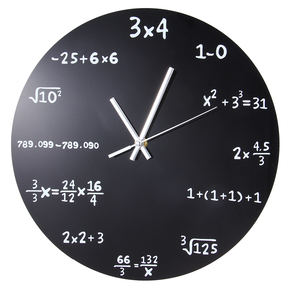 Aliexpress buy large creative wall clock mathematics aliexpress buy large creative wall clock mathematics blackboard pop quiz clock modern design big wall watches for living room wall home decor from amipublicfo Choice Image