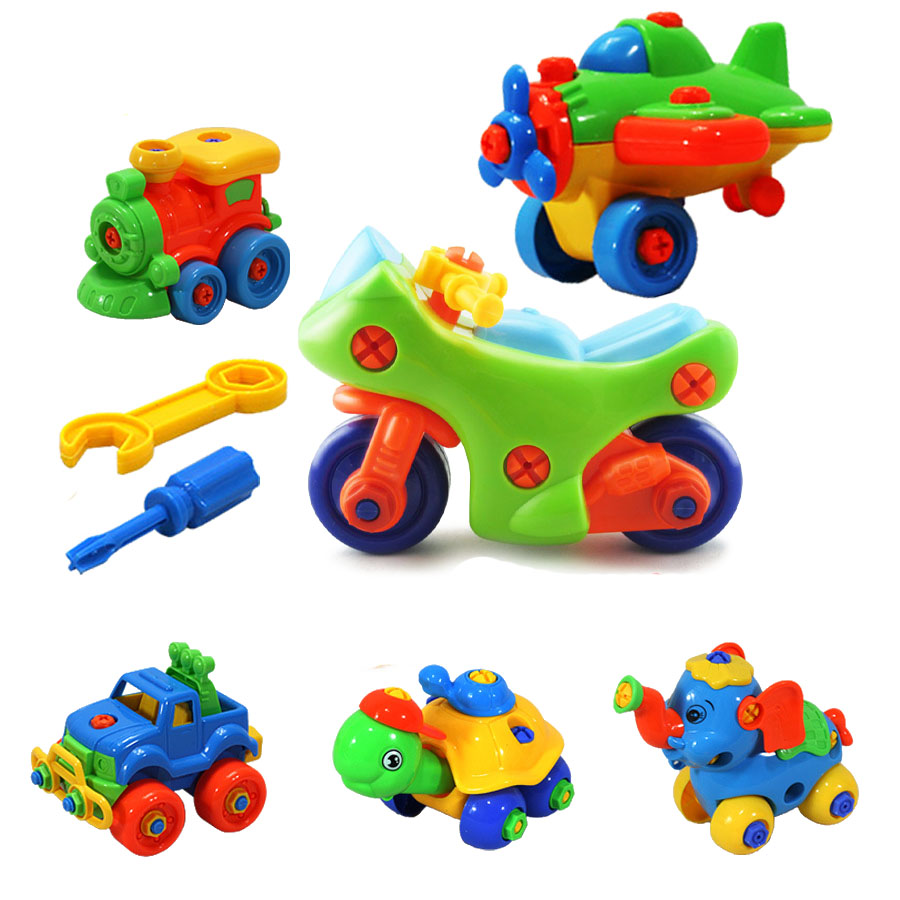 1Set DIY Disassembly Assembly Motorcycle Car Model Building Blocks Toys Early Educational Toys for Children Kids Gifts стоимость
