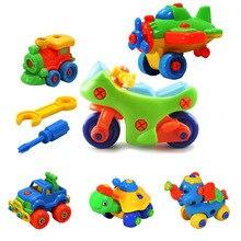 1 Conjunto DIY Montagem Desmontagem Da Motocicleta Modelo de Carro Blocos de Construção de Brinquedos Primeiros Brinquedos Educativos para Crianças Presentes para Crianças