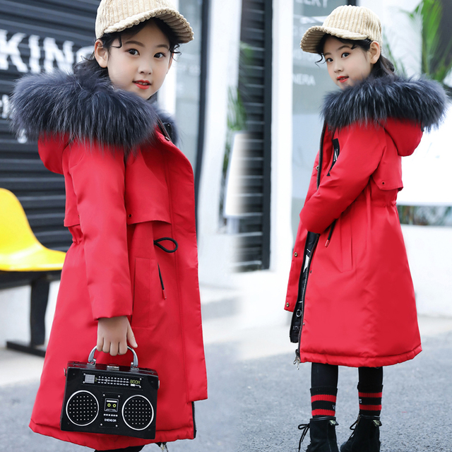 3a5a47a0b Girls Parkas Winter Jackets 2018 New Fashion Baby Girl Winter ...