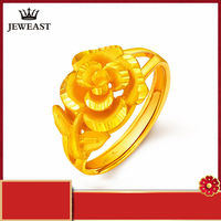 24K Pure Gold Ring Real AU 999 Solid Gold Nice Elegant Charming Rose Upscale Trendy Classic Party Fine Jewelry Hot Sell New 2018