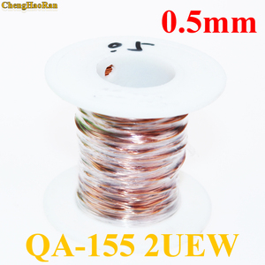 Image 1 - ChengHaoRan 0.5 ملليمتر Qa 1 155 2uew البولي يوريثين بالمينا الأسلاك النحاسية سلك إصلاح كابل 0.5 ملليمتر 1 متر 1 متر