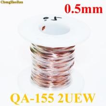 ChengHaoRan 0,5mm Qa 1 155 2uew Polyurethan Emaillierten Kupferdraht Emaillierten Reparatur Kabel 0,5mm 1 mt 1 meter