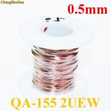ChengHaoRan 0,5mm Qa 1 155 2uew alambre esmaltado de poliuretano Cable de reparación de alambre de cobre esmaltado 0,5mm 1 m 1 metro