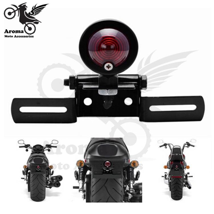 Φ_ΦAlta calidad piezas de moto rojo cola luz LED personalizado ...