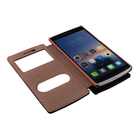 With Stand Flip Leather Cover For Oneplus One One Plus One Open The Window To Bring