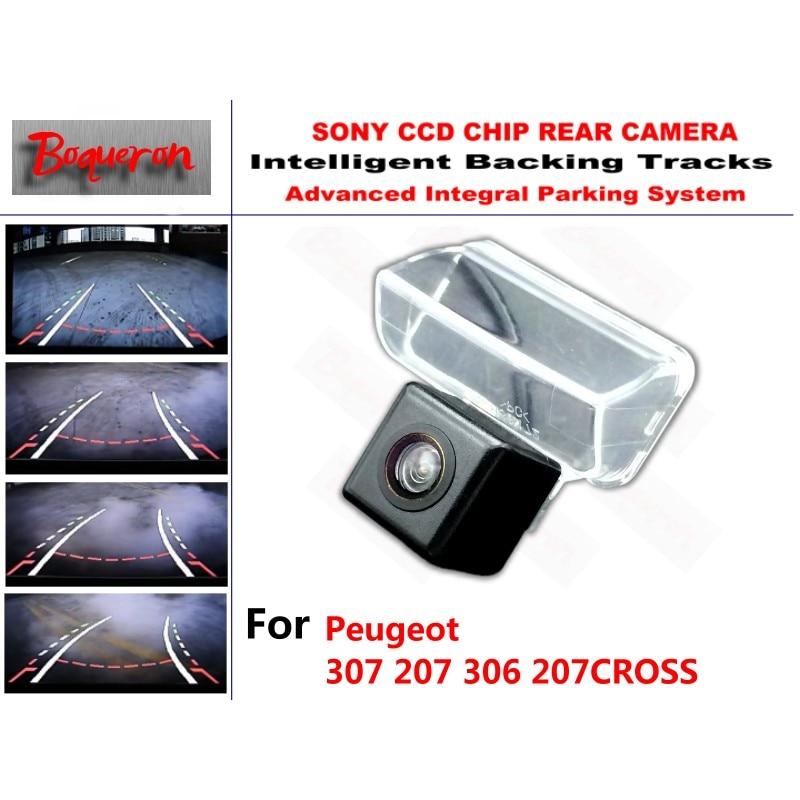 Pour Peugeot 307 207 306 207 caméra de recul de voiture CCD croisée voies intelligentes guidage dynamique caméra de recul