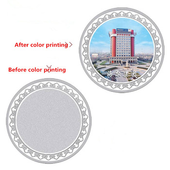 DIY custom made Lovers commemorative coins pure silver 20g Custom lettering photo lovers gifts with box