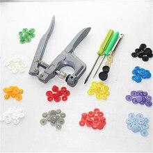 1 компл. металлические пресс-плоскогубцы инструменты, используемые для T3 T5 T8 Kam кнопка застежка-защелка плоскогубцы + 150 компл. T5 пластиковая Смола пресс-шпилька ткань пеленки