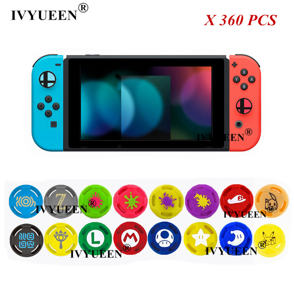 IVYUEEN 360 pcs Analog Stick Grips for Nintend Switch NS Joy Con Thumb Caps for Nintendoswitch