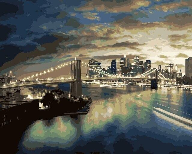Mahuaf i097 illuminazione notturna della città ponte paesaggio