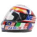 Оригинальный Полнолицевой мотоциклетный шлем NEXX в горошек одобренный городской уличный велосипедный шлем Съемный и моющийся вкладыш быст...