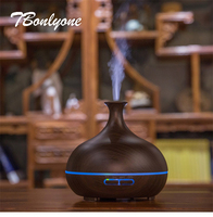 TBonlyone 300ML Vase Diffuser Aromatherapy Air Humidifier Ultrasonic Electric Essential Oil Aroma Diffuser for Spa Yoga Home