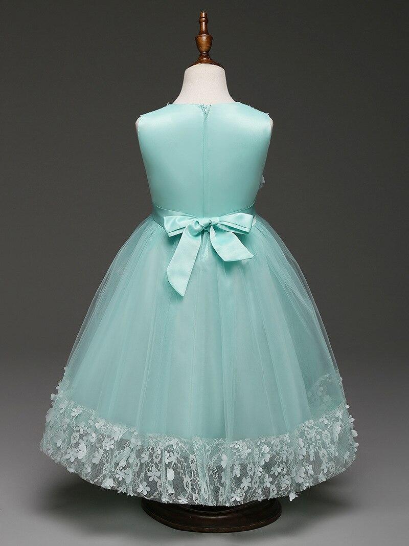 6 7 8 9 10 Years Old Clothes European Wedding Dress Girl Summer ...