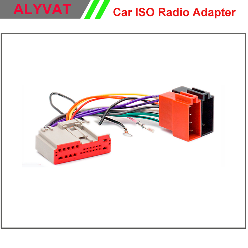 Car stereo iso wiring harness for ford fusion fiesta land