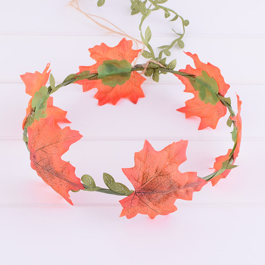 CXADDITIONS Tassel Maple Leaf Flower Halo Bridal Floral Crown Hair Wreath Head Wreath Wedding Accessories Headpiece Bridesmaid