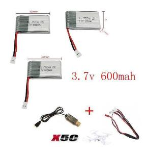 Image 3 - x5c x5 x5sc x5sw 2.4G RC quadcopter 3.7v 600mah Li polymer battery with USB cable