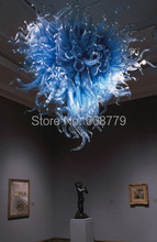 лучшая цена Free Shipping Large Hotel Hand Blown Art Glass Murano Chandelier