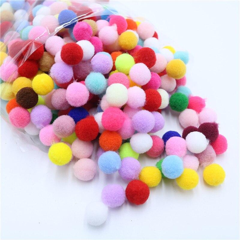400pcs/Bag Wholesale Pompom Fur Ball Plush Ball Handmade Diy Material Early Learning Creative Handmade Wedding Party Home Deco