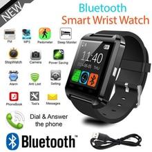 Homens Smartwatch Bluetooth Relógio Inteligente U8 para iPhone IOS Android Telefone Inteligente Desgaste Dos Homens Relógio Digital Dispositivo Wearable Smartwaches