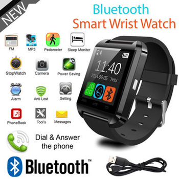 Smartwatch Men Bluetooth Smart Watch U8 for iPhone IOS Android Smart Phone Wear Mens Digital Clock Wearable Device Smartwaches bluetooth