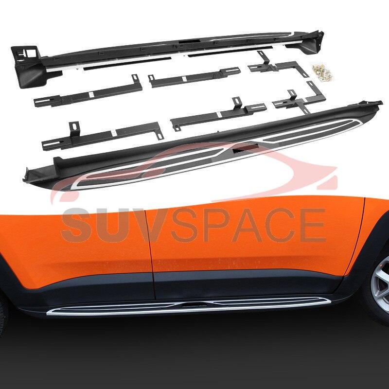 Боковая ступенька для Jeep Renegade 2015 2020 ходовая доска Nerf Bar|Педали| |