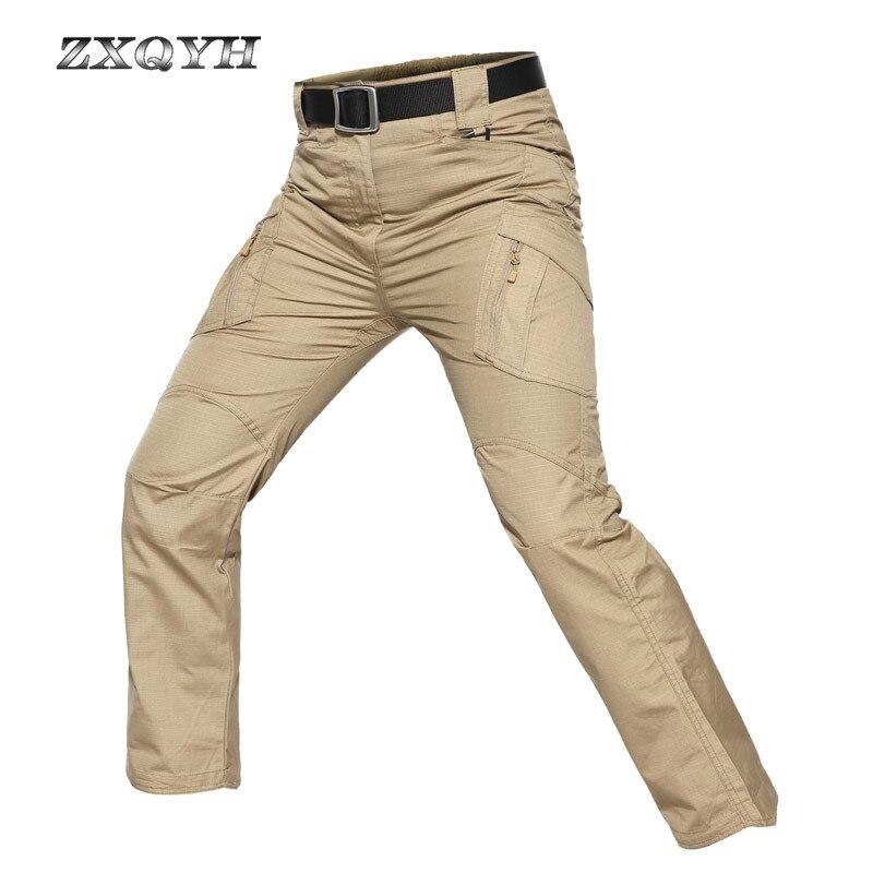 ZXQYH hommes Camouflage pantalon plein air Sport hiver pantalon randonnée Camping Sport pantalon militaire tactique armée pantalon Trekking tissu