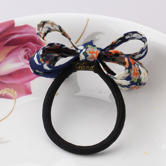 Elastic Hair Band with Colorful Bow