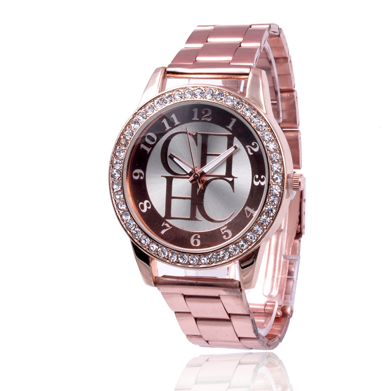 Women Watch Top Brand Luxury Crystal Rhinestone Watch Women Fashion Dress Watch Relogios Femininos Stainless Steel Quartz Watch