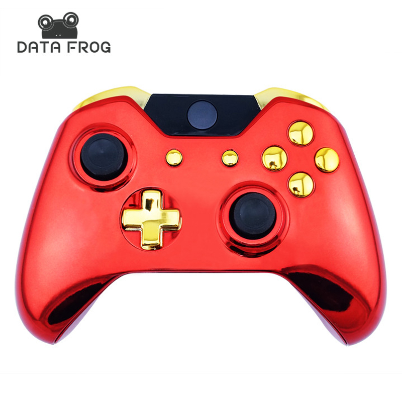 US $12 47 22% OFF New Arrival Custom Chrome Red Replacement Shell + Gold  Buttons Mod Kit for Microsoft Xbox one 1 wireless controller Iron Man-in