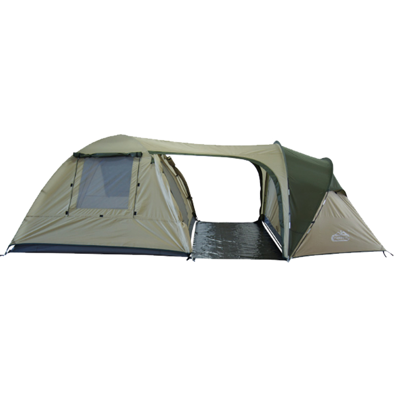 цены  Camppal Outdoor Tents Camping Family Tent 5 Persons Waterproof Double Layer Two Room One Hall Hking Motocycle Tents