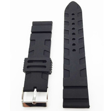 2016 Hot Universal Rubber Link Bracelet Wrist Strap 22mm 24mm Silicone Watchband Fit For Apple Watch
