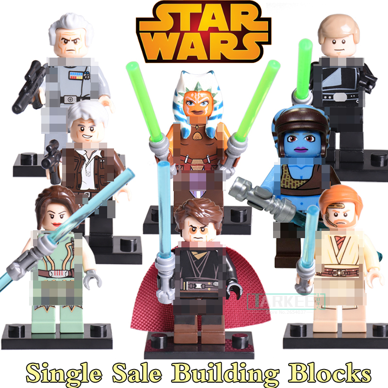 Star Wars Diy figures Luke Skywalker Han Solo Anakin Jedi Knight Aayla Secura Obi-Wan Bricks Building Blocks Kids Toys PG8034 building blocks agent uma thurman peeta dc marvel super hero star wars action bricks dolls kids diy toys hobbies kl069 figures