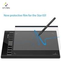 XP Stift Transparent Grafik Tablet Schutz Film für XP Stift Star03 Grafiken Zeichnung Tablet (2 stück in 1 paket)-in Digital Tablets aus Computer und Büro bei