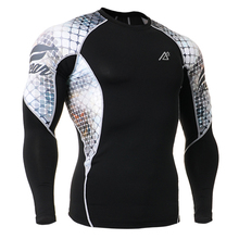 Men s Long Sleeves High Quality Compression Skin Tight Wear Fitness Bodybuilding T Shirts