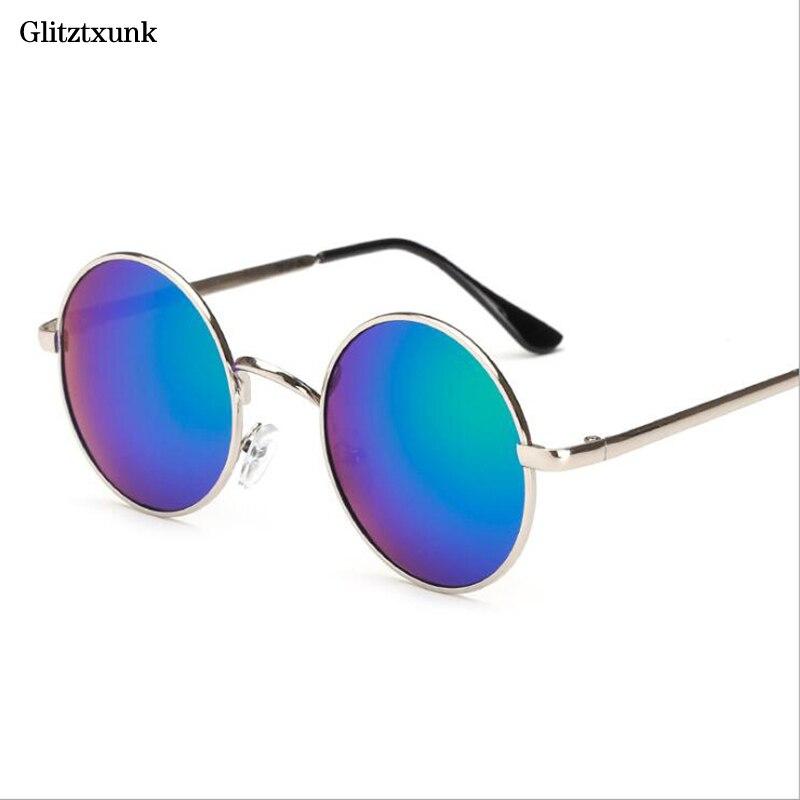 Gafas de sol polarizadas Glitztxunk para mujer, gafas de sol redondas Retro para hombre y mujer, gafas de sol redondas Multicolor de moda con espejo de Príncipe