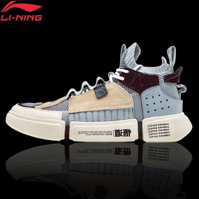 Li-Ning для мужчин ESSENCE 2 ACE NYFW Досуг Культовая обувь носок-как однотонные Тканные подкладка дышащая Спортивная обувь Кроссовки AGWN041 XYL159