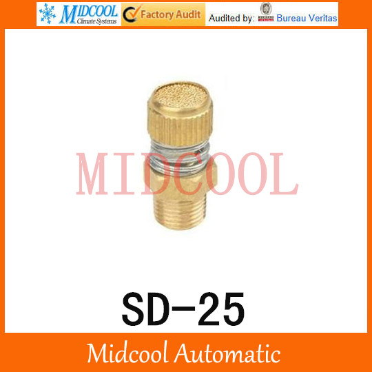 SD-25 SD Type of Timing Muffler Pneumatic components solenoid valve deadened the noise of the silencer 10pcs lot pneumatic muffler plastic thread 1 8 pneumatic plugs silencer fitting for solenoid pneumatic valve connector