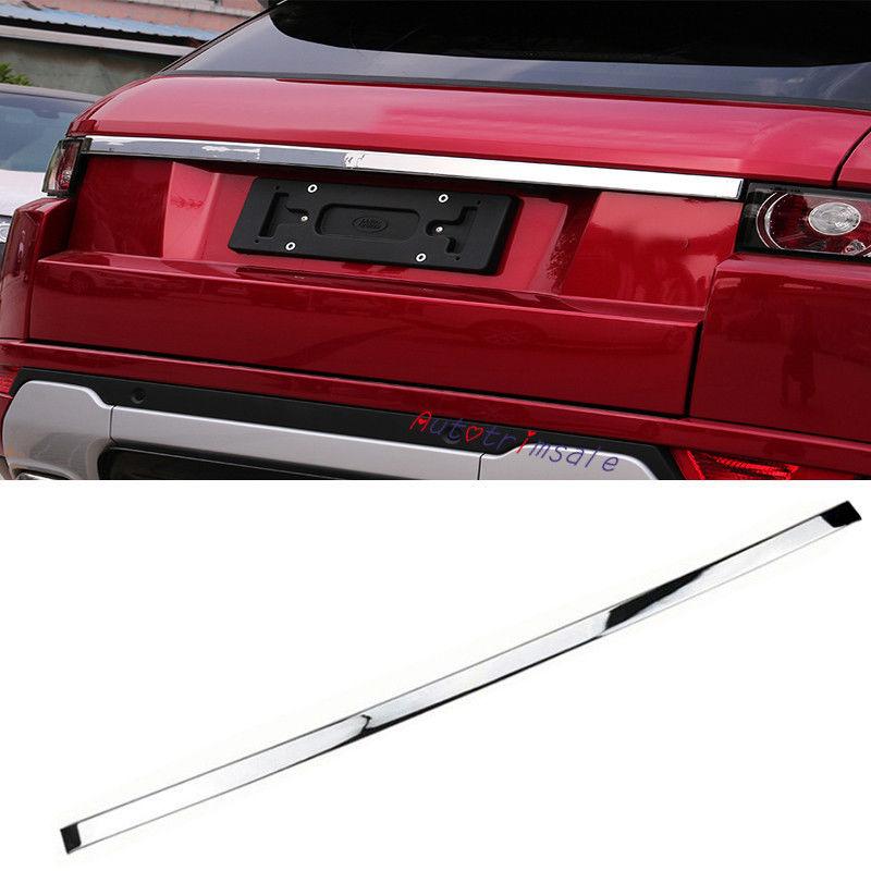 ABS Chrome Arrière Boot Tronc Couvercle Moulage Garniture Pour Range Rover Evoque 2011 2016 dans Chrome Styling de Automobiles et Motos
