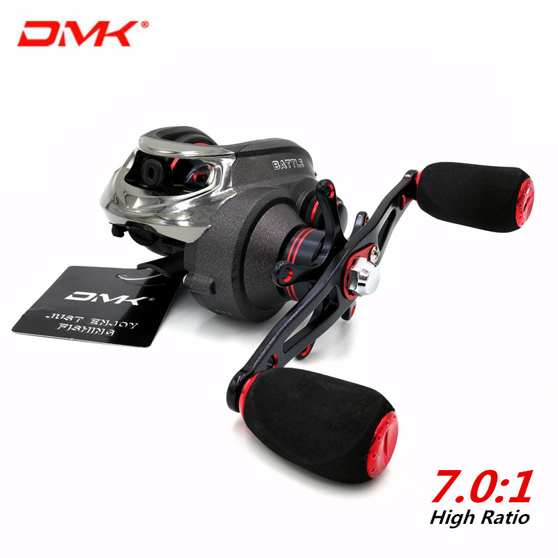 DMK Brand 16BB Ratio 7.0:1 Surf Fishing Baitcasting Fishing Reel Left Right Handle Metal Spool Saltwater Bait Casting Fish Reels lawaia 11 axis drop round saltwater fishing reels big games speed ratio 6 3 1 cup capacity 2 210 carp fishing reel fish vessel